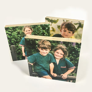 Set of 3 Medium SKWE Wooden Photo Blocks (13cmx13cm) <br/> Introductory Price