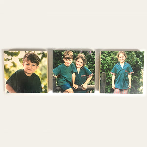 Set of 3 Large SKWE Wooden Photo Blocks (15cmx15cm) <br/> Introductory Price