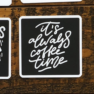 Black & White Coffee Quote Coasters