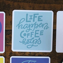 Set of 15 Coffee Quote Coasters. Quality Printed and Laminated