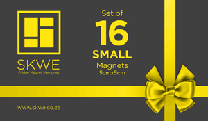 Gift Card - 16 Small SKWE Magnets. Includes delivery to Main Centres