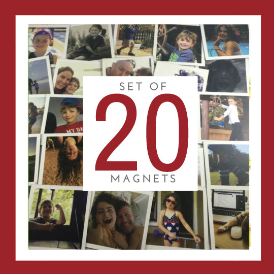 Set of 20 Large Magnets (7cm x 7cm)