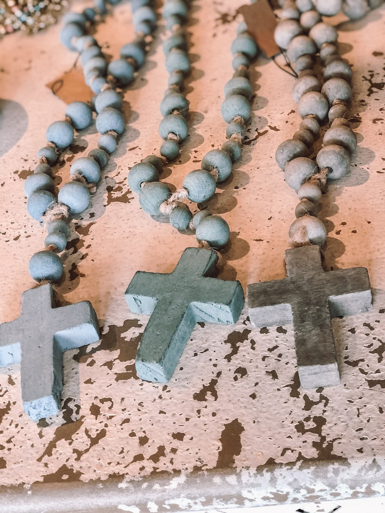 Wood Bead Rosary - 3 Colors