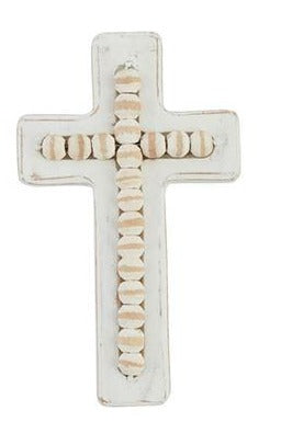 White-Washed Beaded Crosses