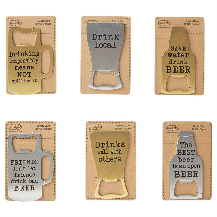 Credit Card Beer Bottle Openers - Various Styles