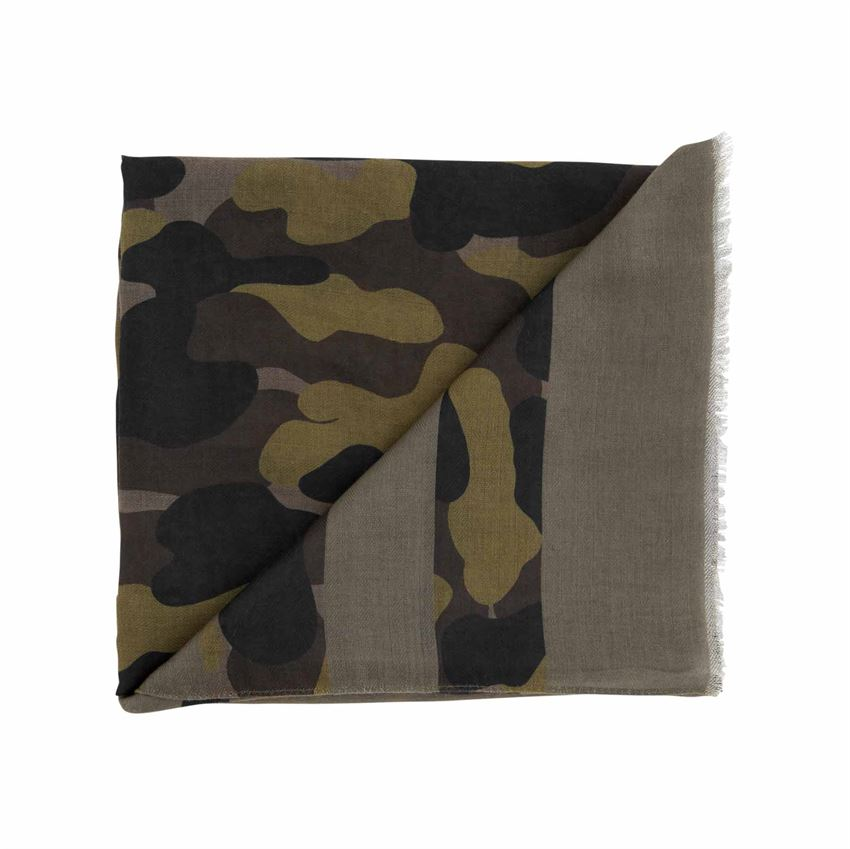 Striped Camo Scarf - 3 Colors
