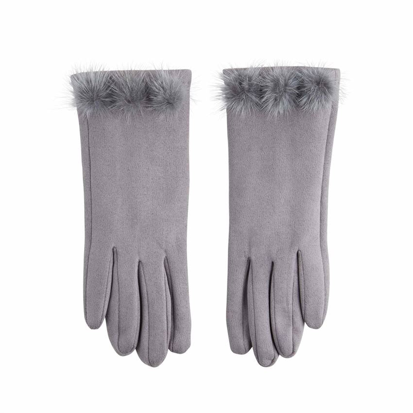 Suede Poof Gloves - 3 Colors