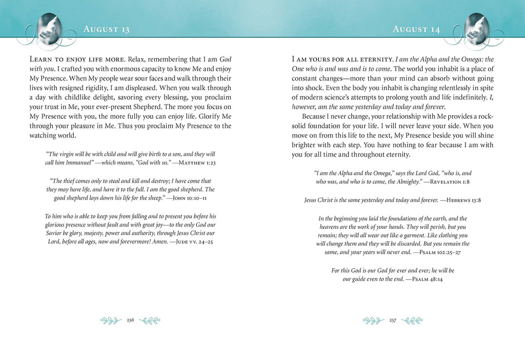 """Jesus Calling"" - Large Text - Teal Leathersoft"