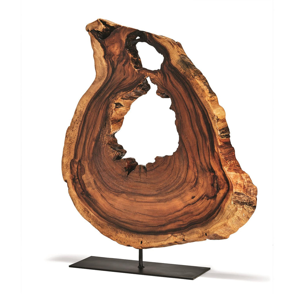 Acacia Wood Slice on Stand