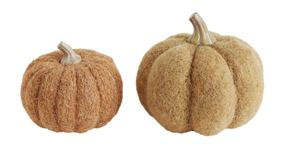 Orange Wool Felt Pumpkin - 2 Sizes