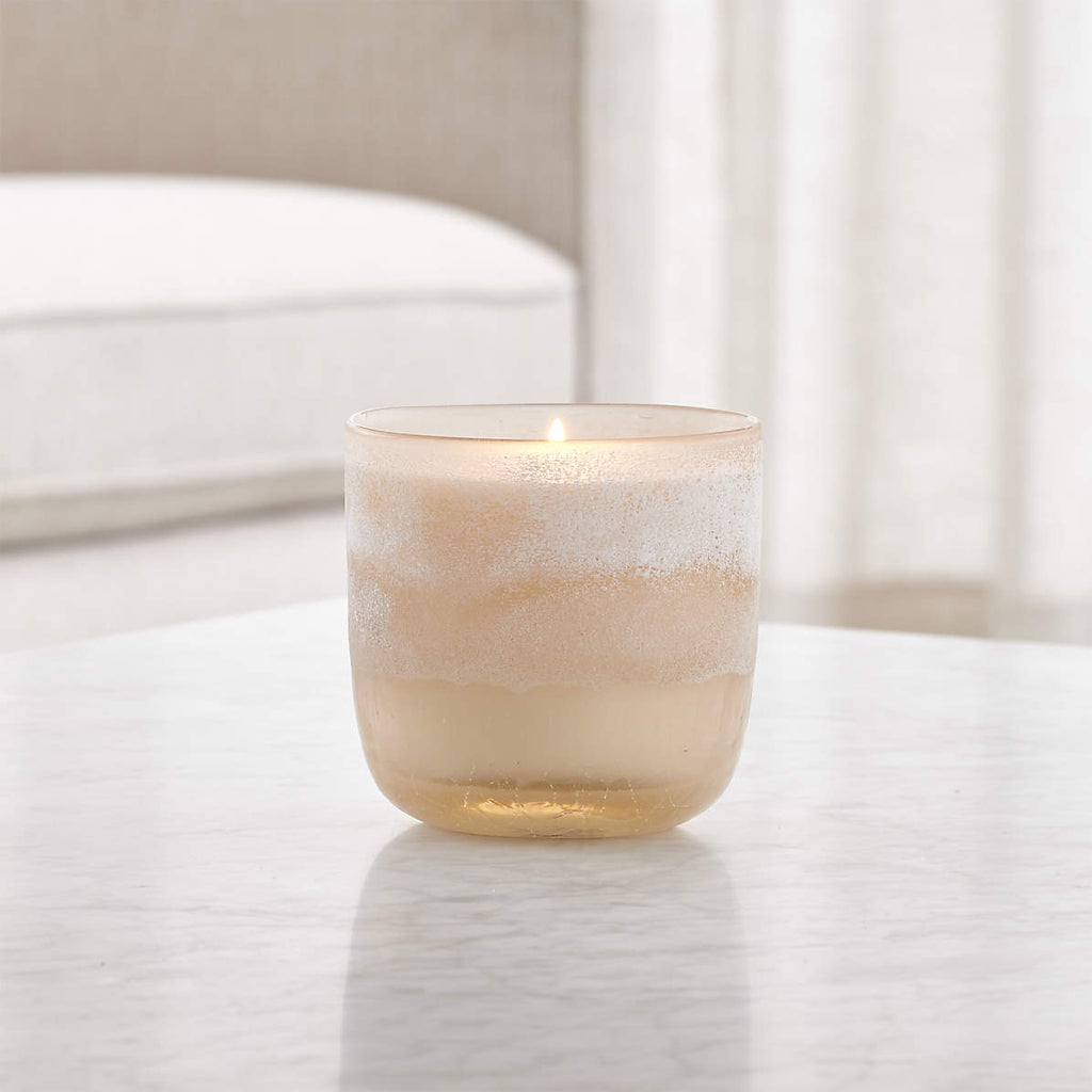 Coconut Milk Mango Mojave Glass Candle- Medium