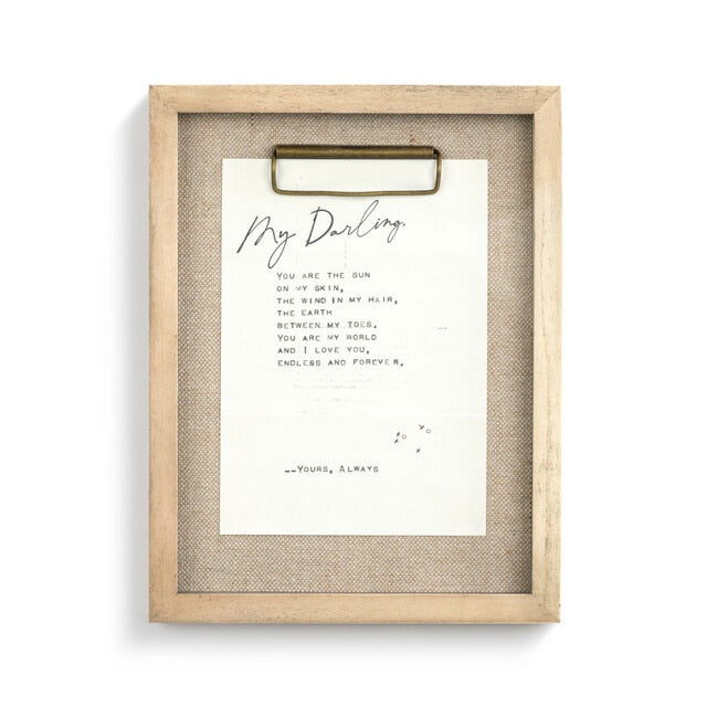 Dear You Wall Art - My Darling