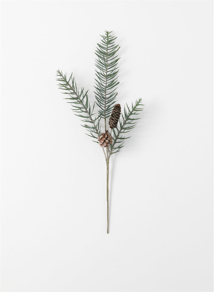 Feather Pine Cone Spray