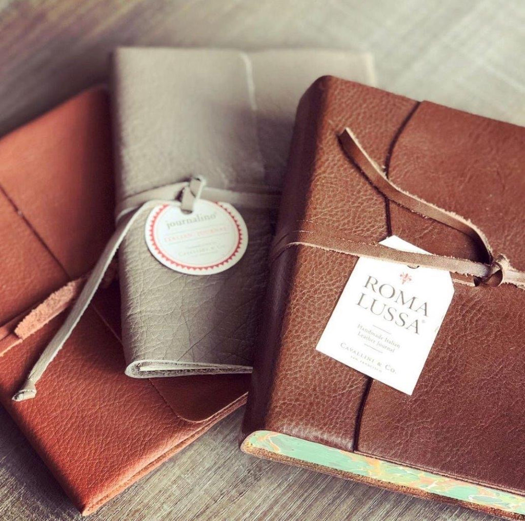 Journal - Slim Leather - Choice of 2 Colors