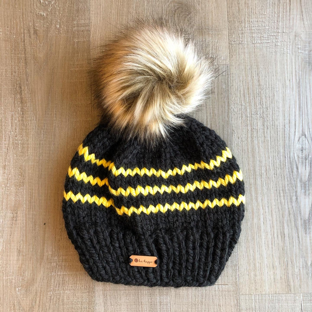 b.e.happe Handmade Adult Rugby Stripe Hat