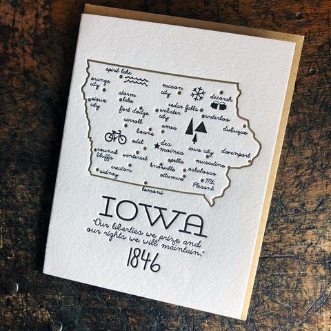"Iowa ""Cities"" Print"