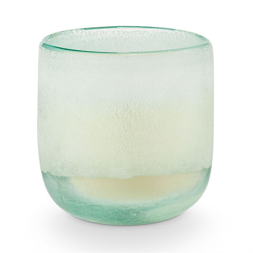 Fresh Sea Salt Mojave Glass Candle- Medium