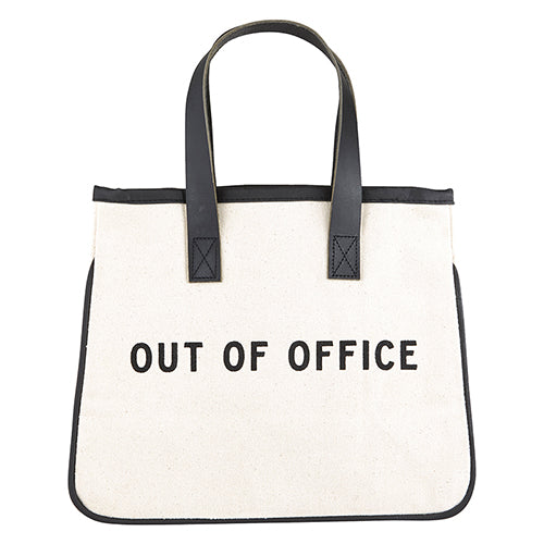 Out of Office Mini Canvas Tote