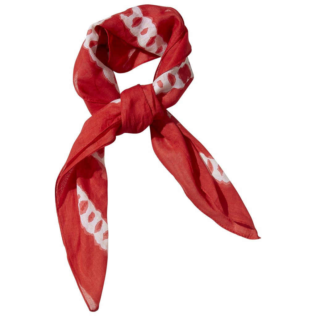 Tie Dye Kerchief - Red