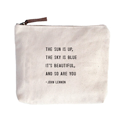 "Canvas Zip Bag - 8.5"" x 7.5"" - Various Quotes"