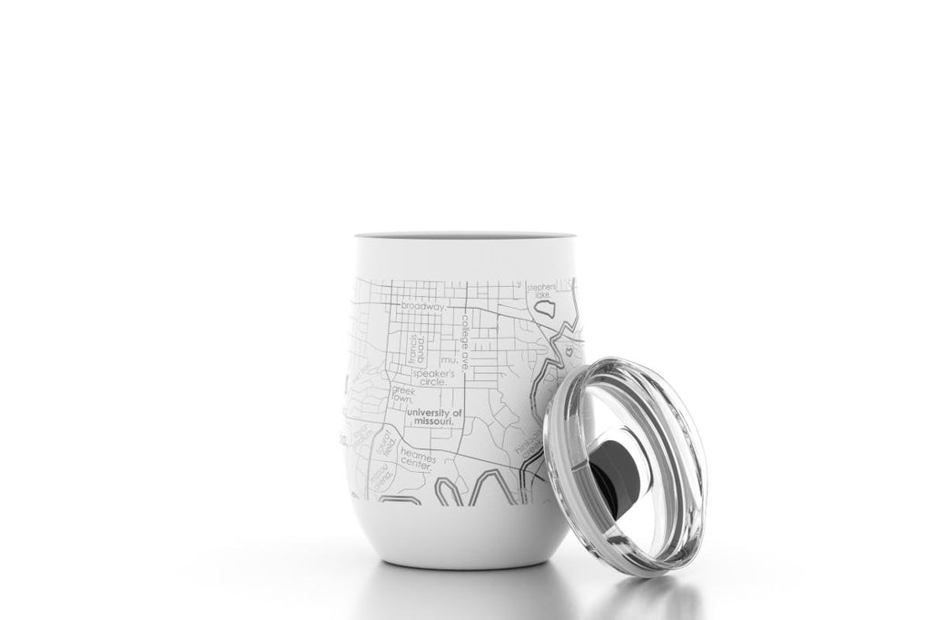College Town Maps Insulated Wine Tumbler - 12 oz.