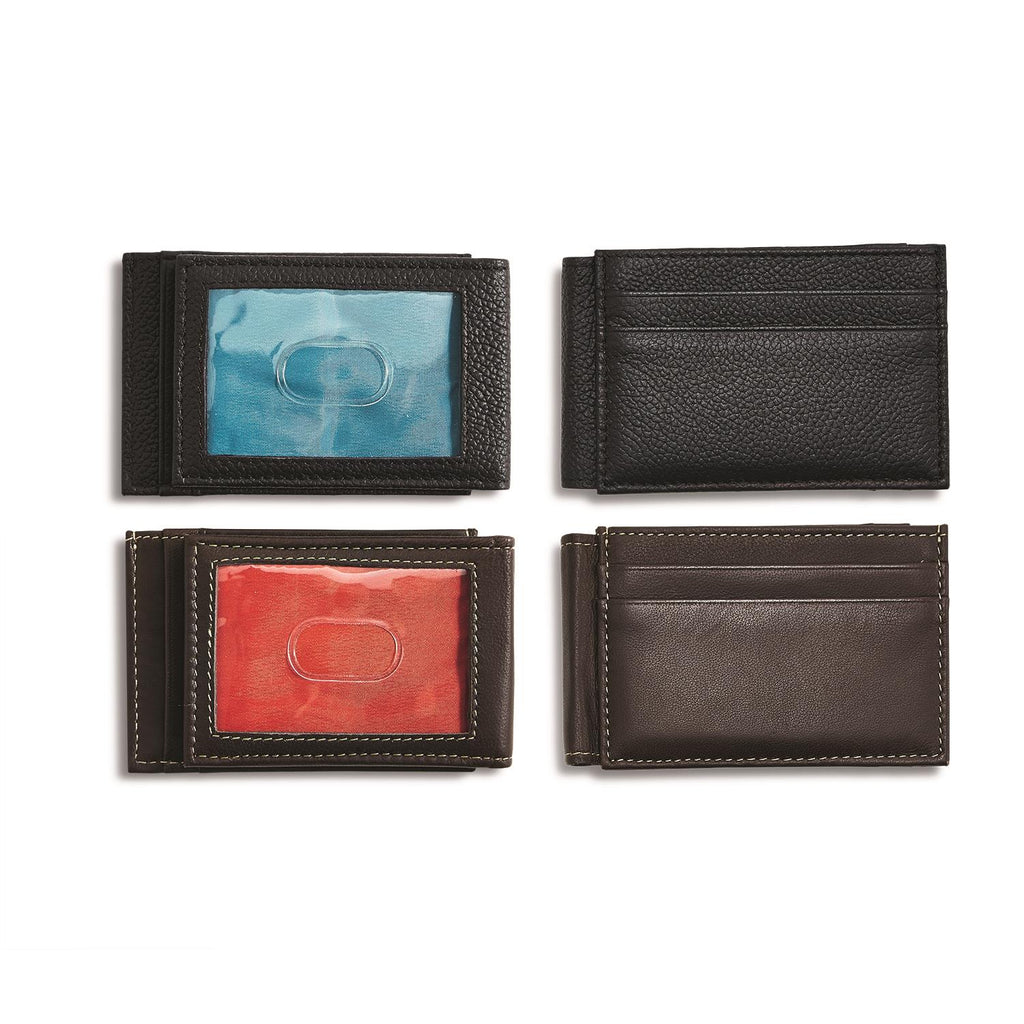 Leather Wallet with ID Window - 2 Colors, 2 Styles