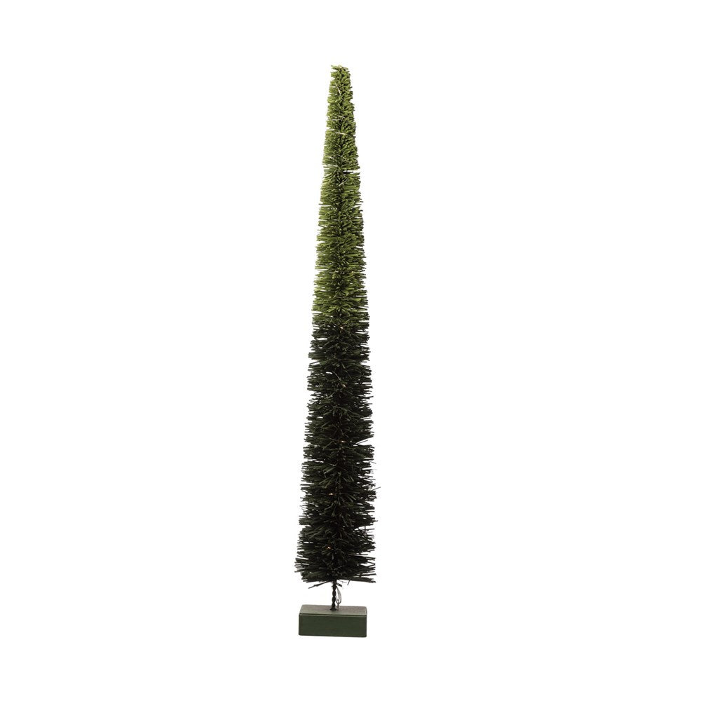 Green Ombre Rattan LED Tree 3 Sizes