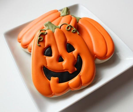 Perfect Pumpkin Jack O' Lantern Sugar Cookies! | Updates, Recipes & Decorating Tips from Bakell.com