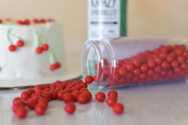 10mm red beads