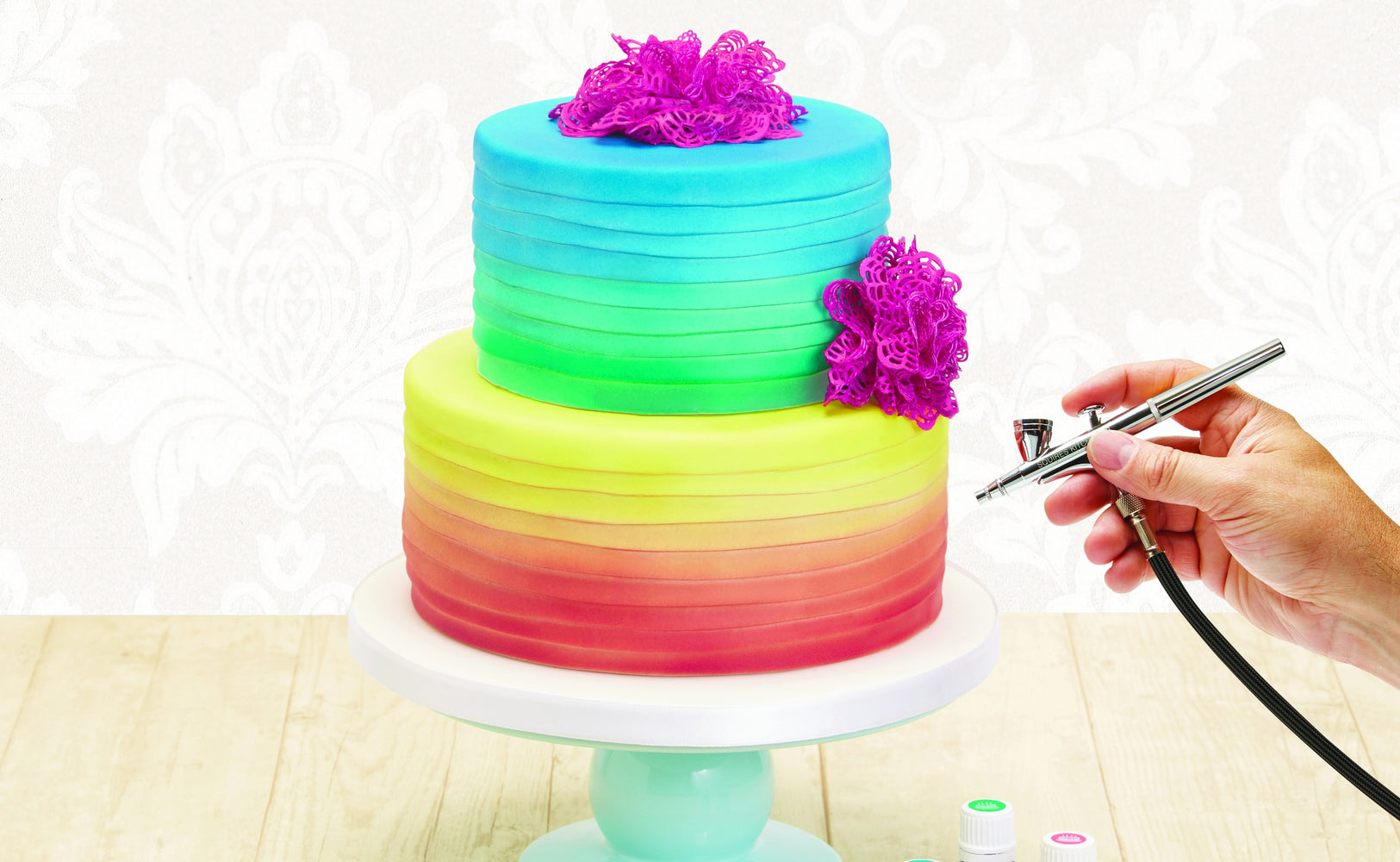 Bakell® Airbrush Gun Kit - Bakell.com | Airbrush Gun for Cake Decorating & Baking!