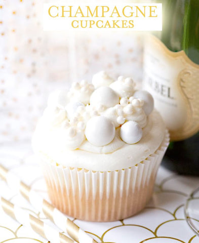 New Year's Eve Champagne Cupcakes Recipe | Bakell.com