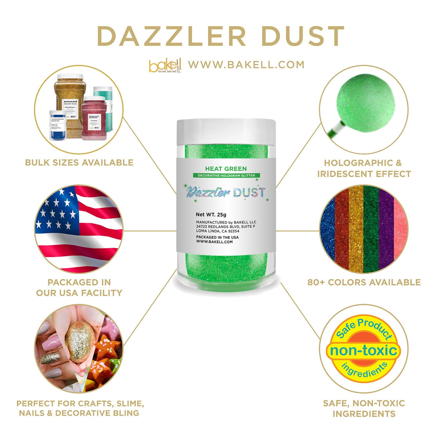 Dazzler Dust | Non Toxic Holographic Decorating & Craft Glitter | Bakell.com