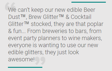 Bakell announces new edible glitter for beer, cocktails and champagne & wines!