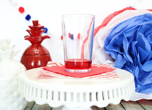How to make 4th of July Red, White and Blue Glitter Cocktail Recipe