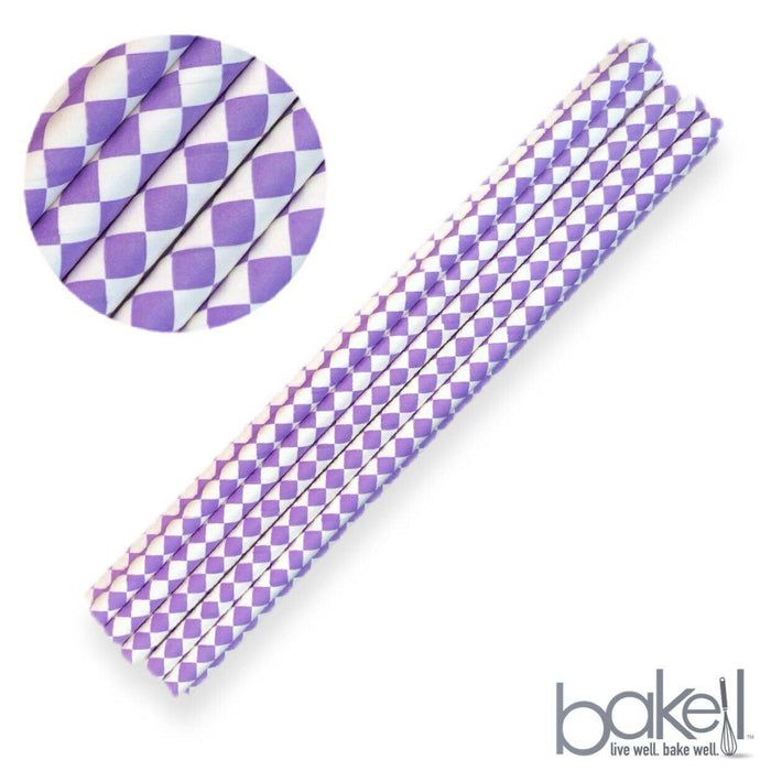12 PC Cake Pop Party Straws - Purple Diamond-Cake Pop Straws-Bakell- | Bakell.com