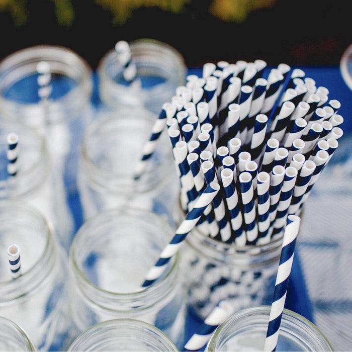 12 PC Cake Pop Party Straws | Yellow and White Candy Cane Strips-Cake Pop Straws-Bakell
