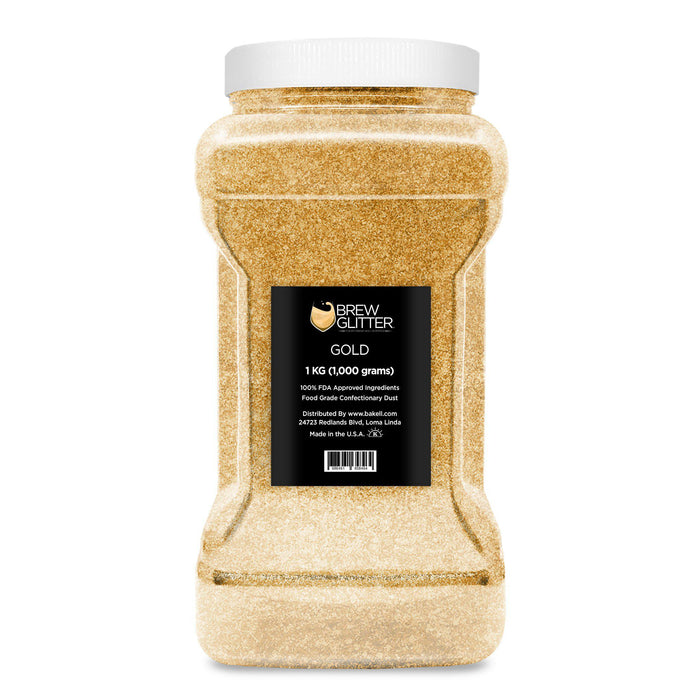 Gold Edible Glitter for Beer & Drinks | Food Grade Brew Glitter-Beer Glitter-Bakell