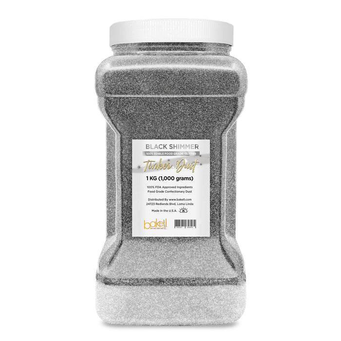 Black Shimmer Edible Tinker Dust | Bulk Sizes-Bulk_Tinker Dust-Bakell