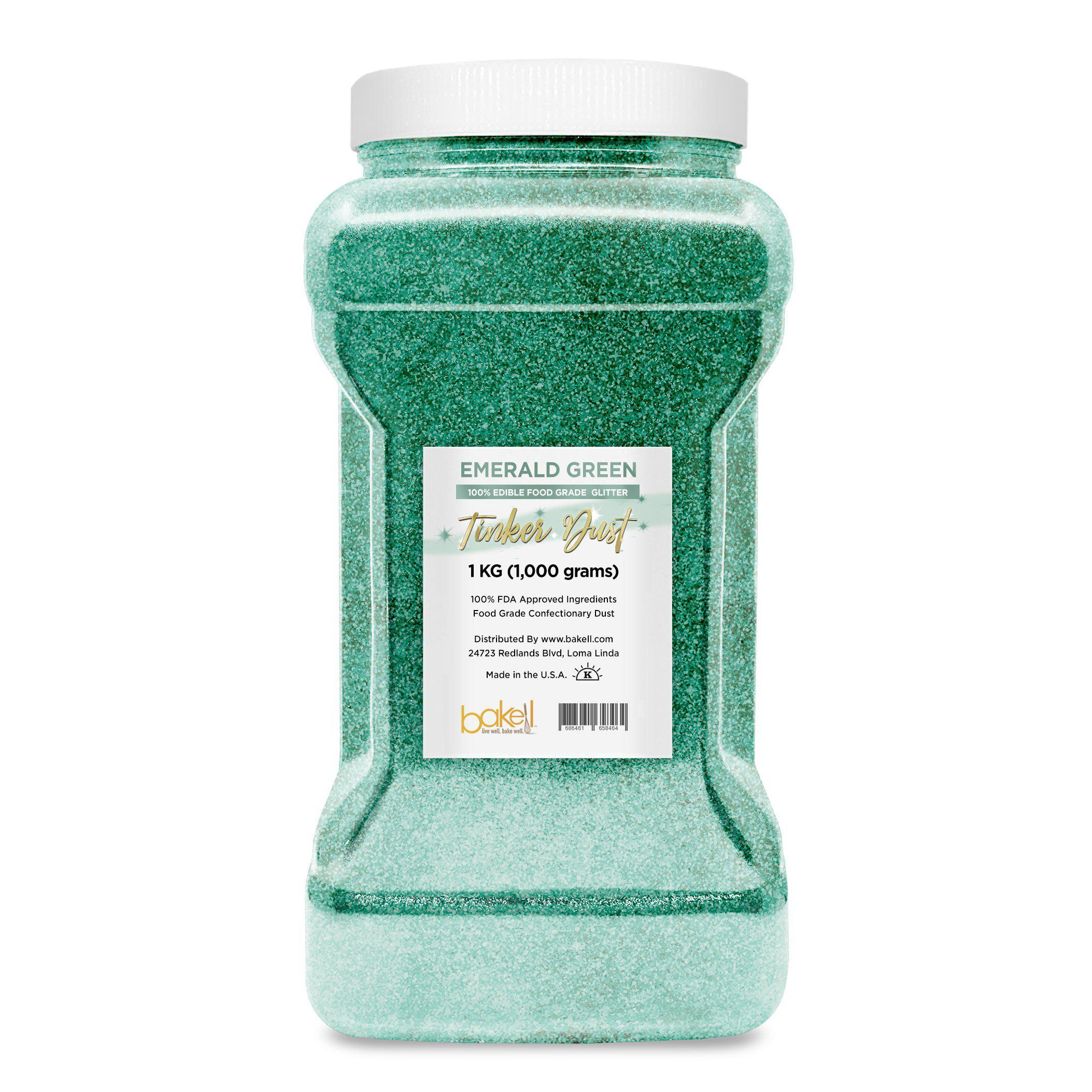 Emerald Green Tinker Dust Edible Glitter, 5g Jar | Food Grade Glitter-Tinker Dust-Bakell