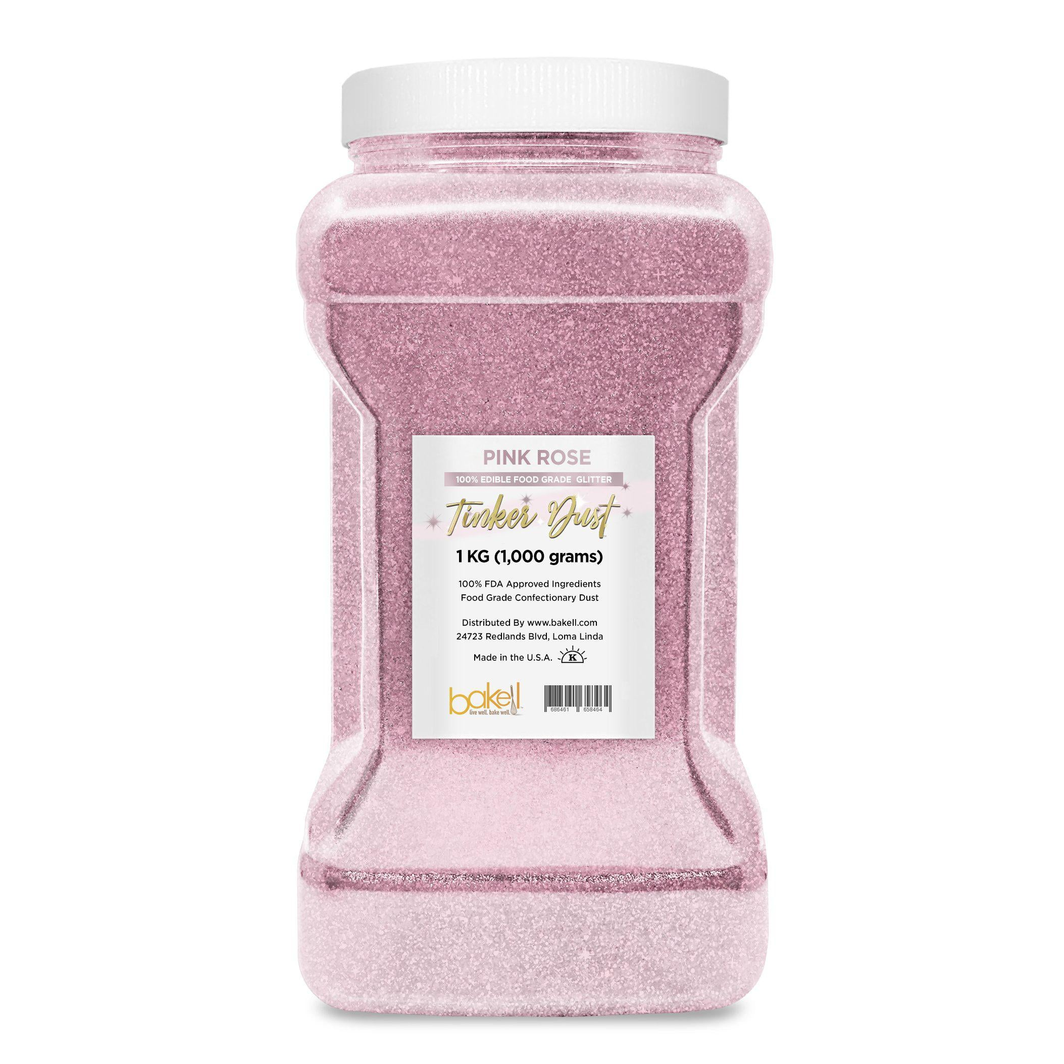 Pink Rose Tinker Dust Edible Glitter, 5g Jar | Food Grade Glitter-Tinker Dust-Bakell