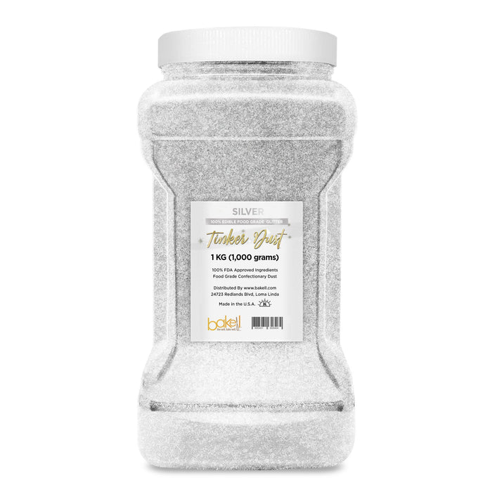 Silver Edible Tinker Dust | Bulk Sizes-Bulk_Tinker Dust-Bakell