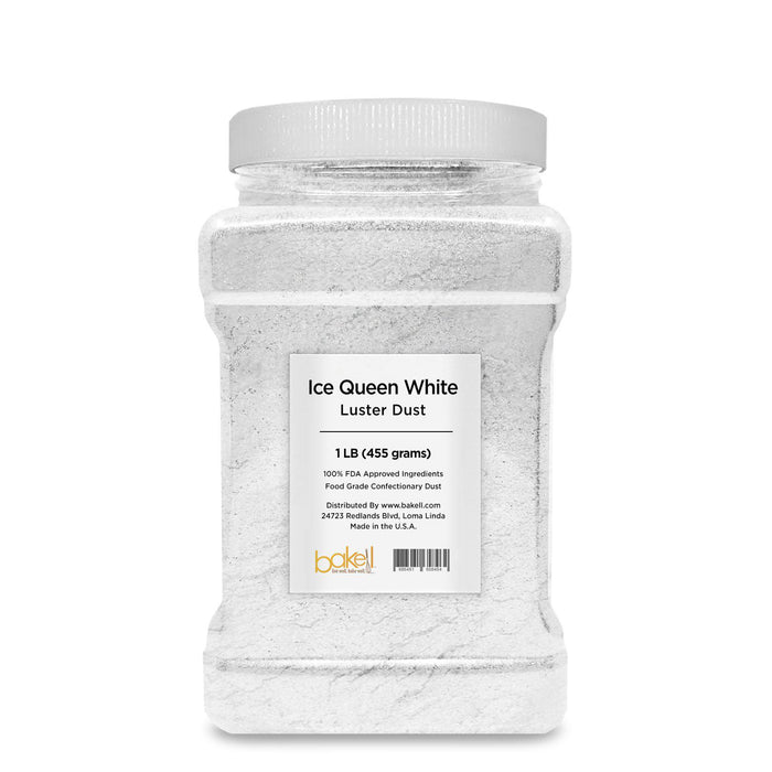 Ice Queen White Edible Pearlized Luster Dust-Luster Dusts-Bakell