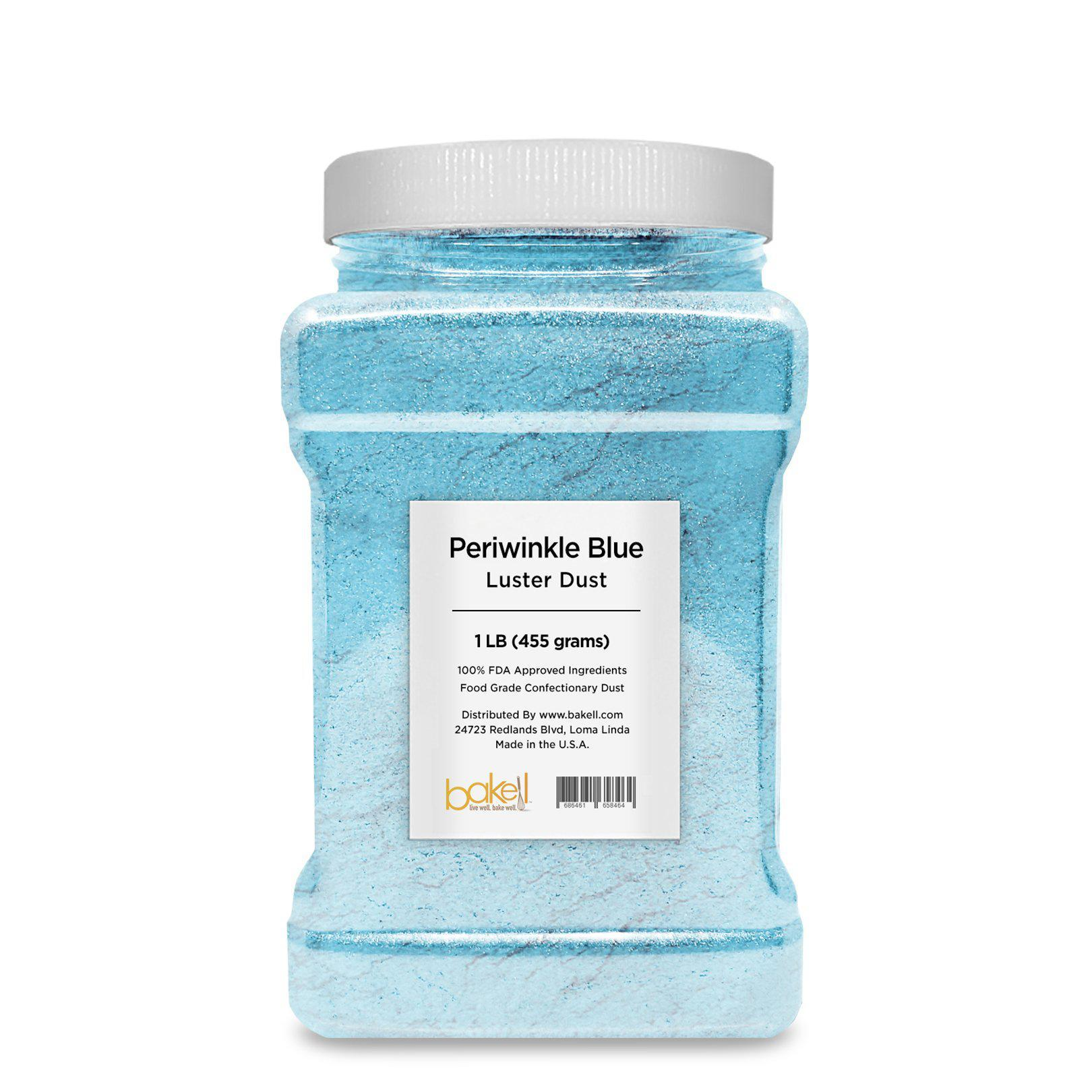 Periwinkle Blue Edible Pearlized Luster Dust-Luster Dusts-Bakell