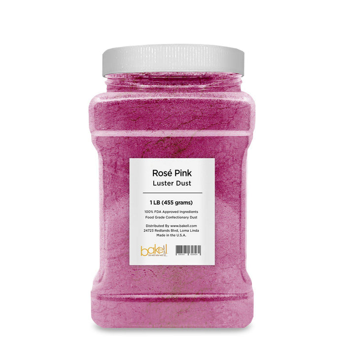 Rosé Pink Edible Pearlized Luster Dust-Luster Dusts-Bakell