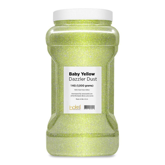 Baby Yellow Decorating Dazzler Dust-Disco Dusts-Bakell