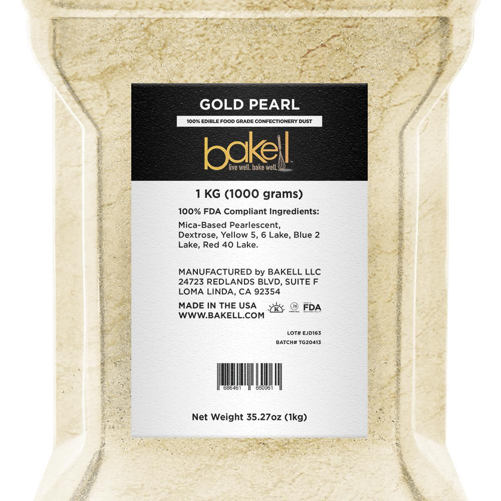 Gold Pearl Edible Pearlized Luster Dust-Luster Dusts-Bakell