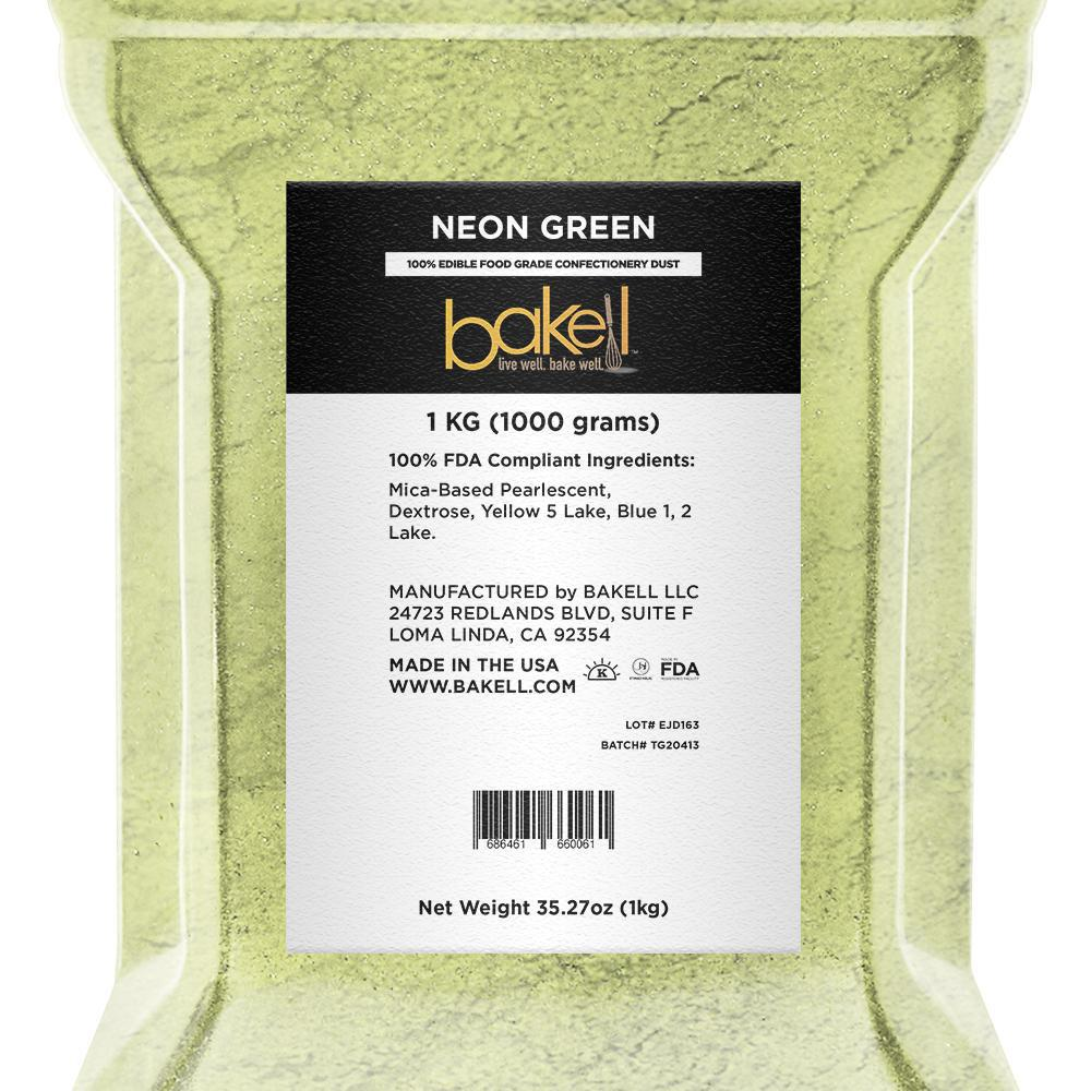 Neon Green Edible Luster Dust-Luster Dusts-Bakell
