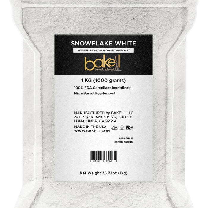 Snowflake White Edible Luster Dust-Luster Dusts-Bakell