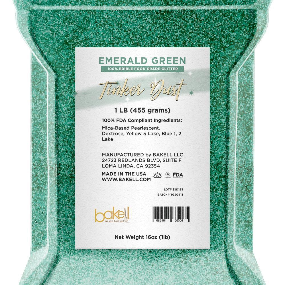 Emerald Green Tinker Dust Edible Glitter | Food Grade Glitter-Tinker Dust-Bakell