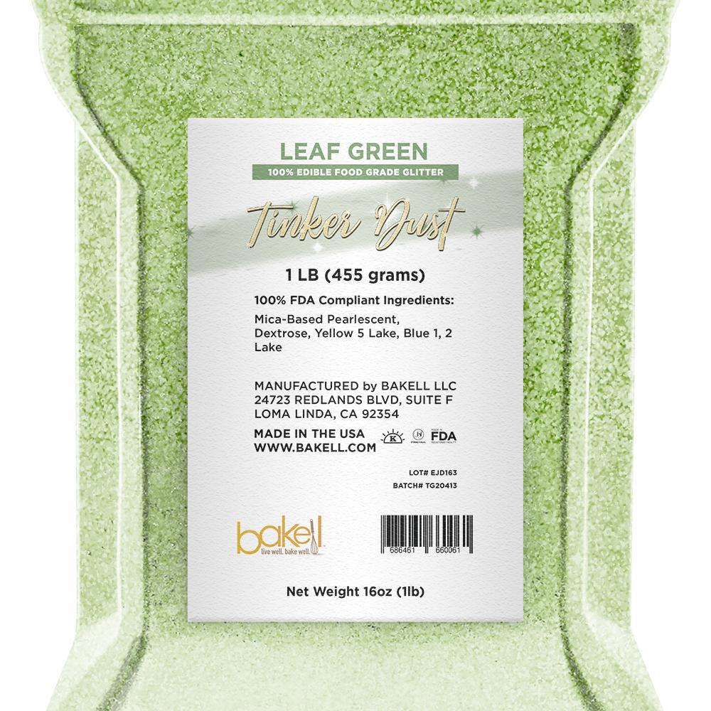 Leaf Green Tinker Dust Edible Glitter | Food Grade Glitter-Tinker Dust-Bakell